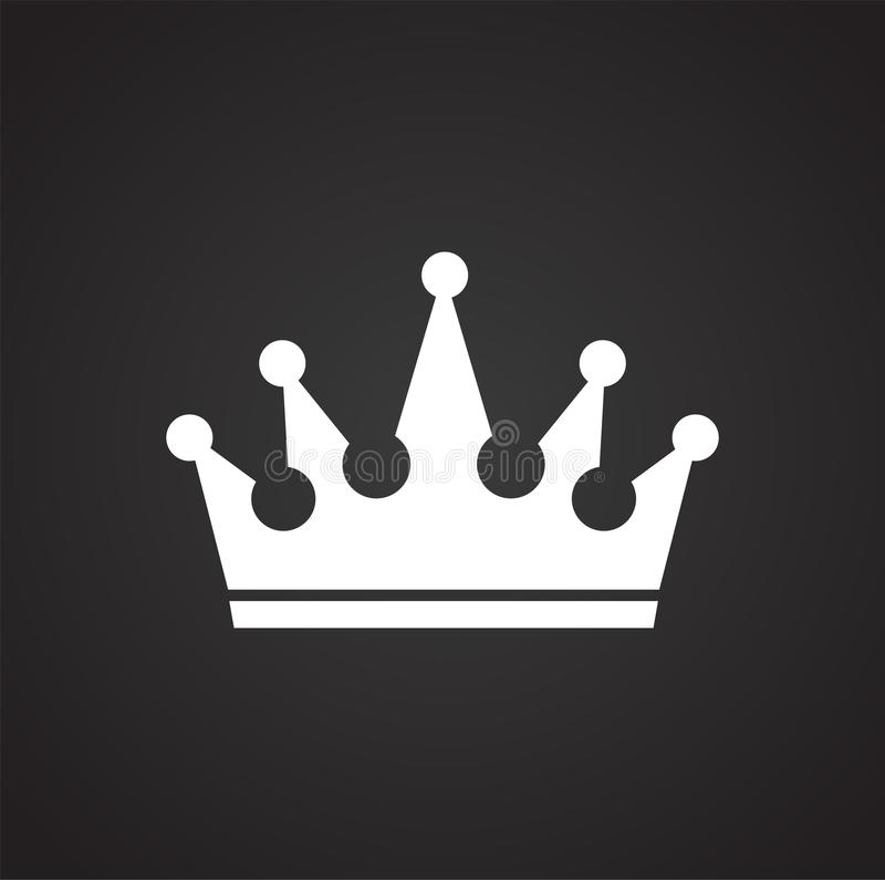 Crown on black background for graphic and web design, Modern simple vector sign. Internet concept. Trendy symbol for website stock illustration