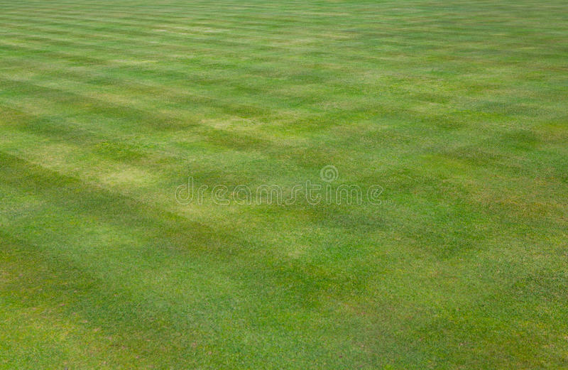 Crown bowls green grass lawn. Well kept crown bowl green grass lawn for bowls stock images