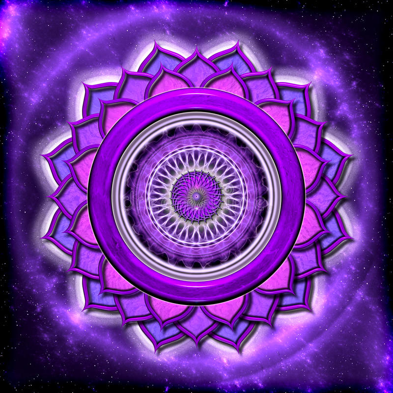 The Crown Chakra stock illustration