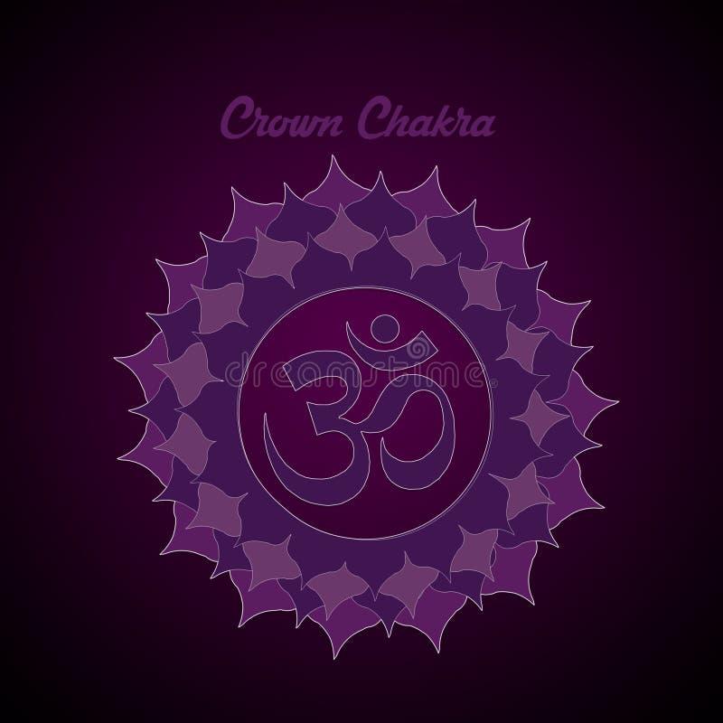 Crown Chakra. Illustration of Crown Chakra symbol royalty free illustration