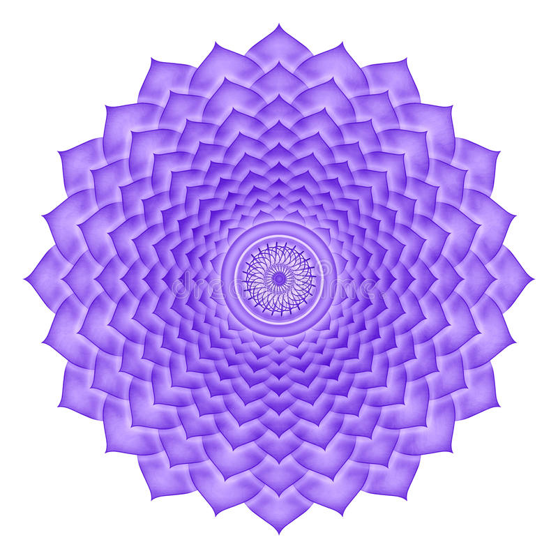Crown Chakra isolated. Illustration of the crown chakra isolated stock illustration