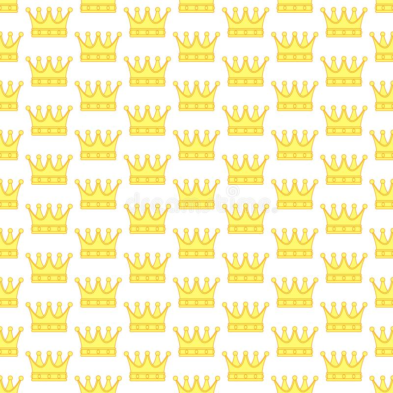 Crown contour pattern stock image