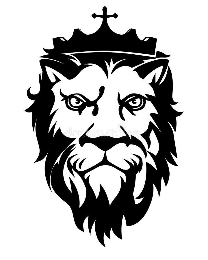 _&_Crown de Lion Head illustration stock