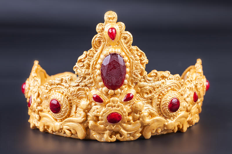 Crown Detail Of Delicious Luxury Birthday Cake Stock Image Image
