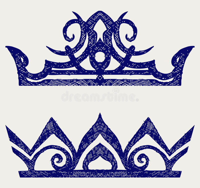 Download Crown. Doodle style stock vector. Illustration of king - 27927583