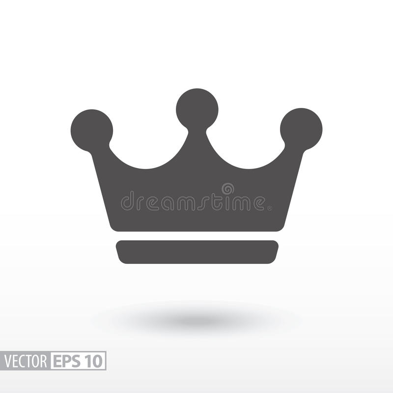 Crown - flat icon. Crown flat icon. Sign Crown. Vector logo for web design, mobile and infographics. Vector illustration eps10. Isolated on white background royalty free illustration