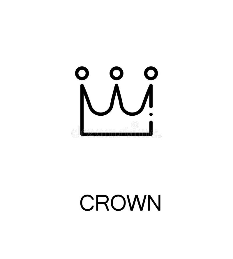 Crown Flat Icon Stock Illustration Illustration Of Nobility 84757158