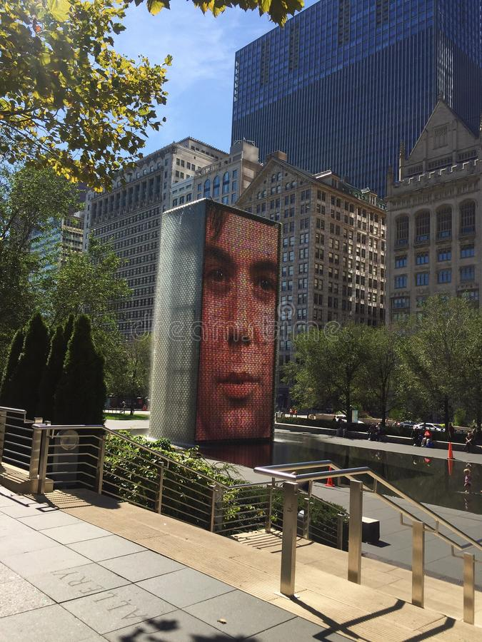 Crown fountain royalty free stock image