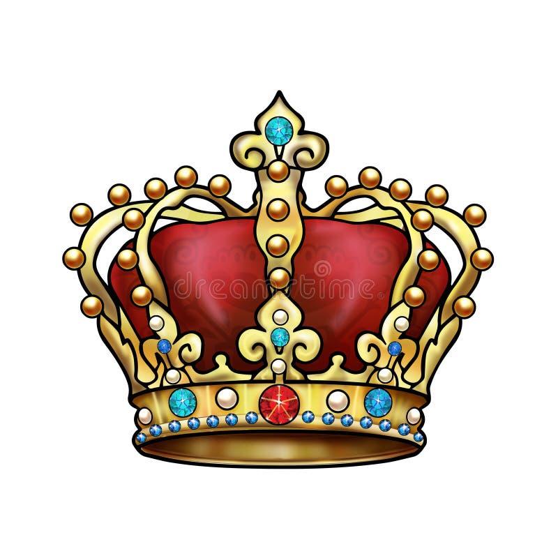 Download Crown stock illustration. Illustration of baroque, decor - 71112605