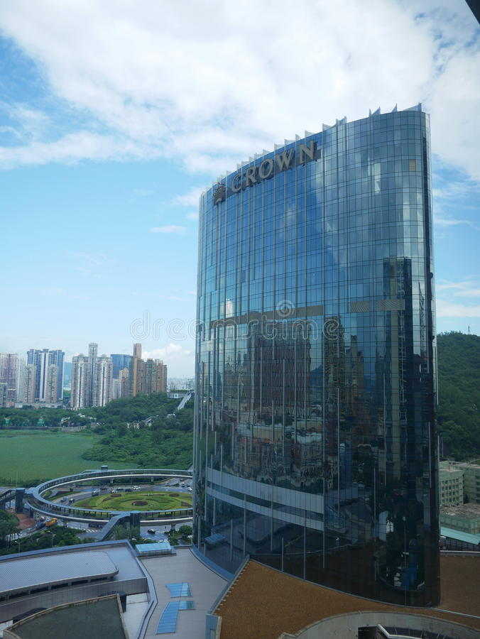 Crown Hotel at Macao stock image