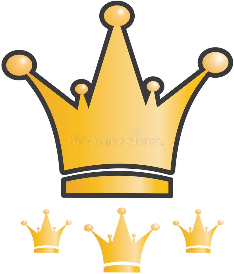 Crown icon. Abstract vector crown gold icon