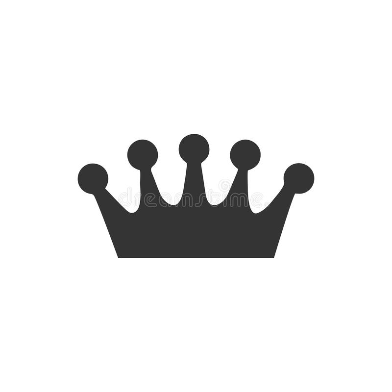 Crown Icon. Beautiful, Meticulously Designed Crown Icon stock illustration
