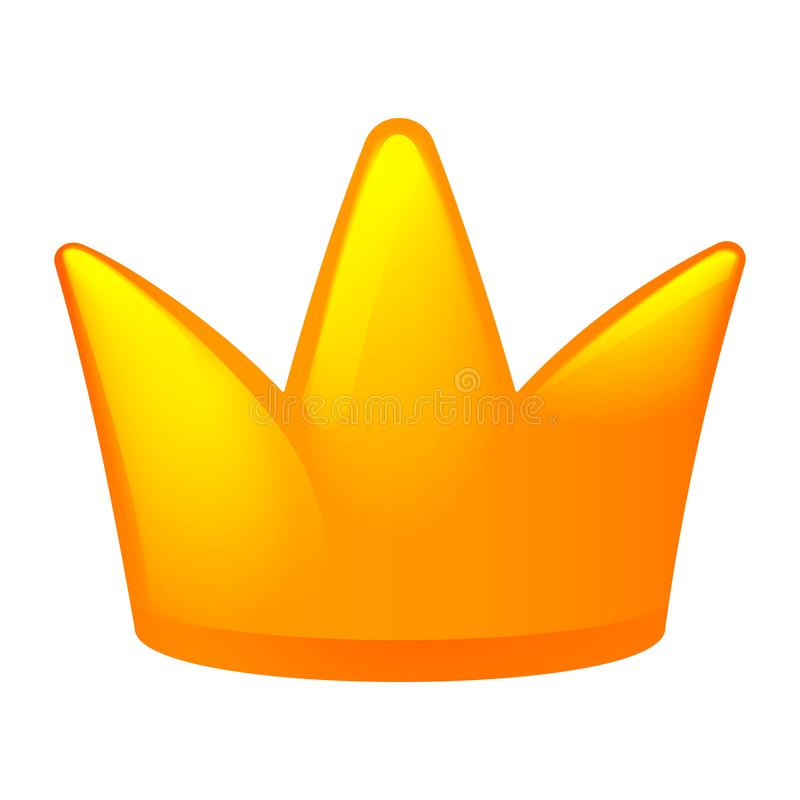 Crown icon, cartoon style vector illustration