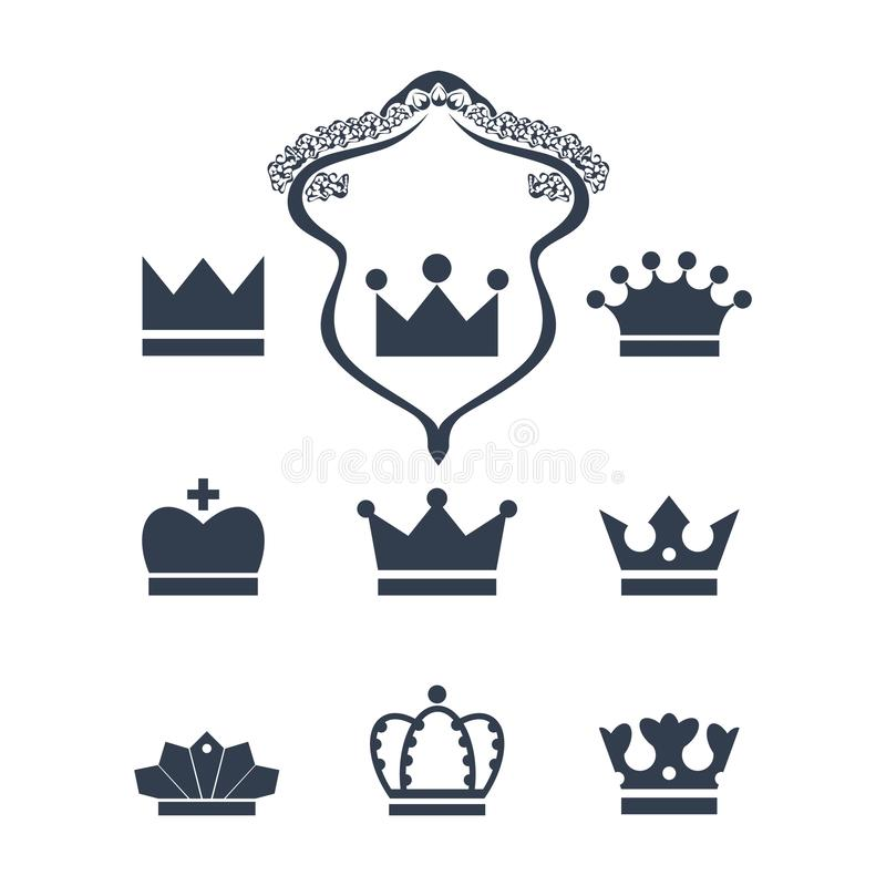 Crown icon collection vector illustration