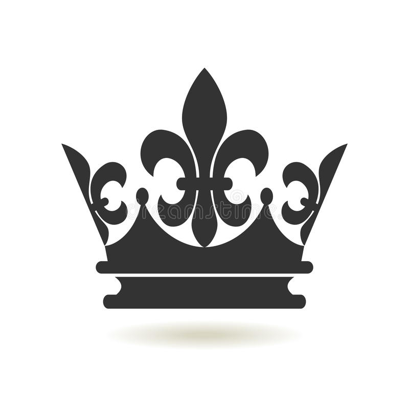 Crown Icon Flat Style Monarchy Authority And Royal Symbols