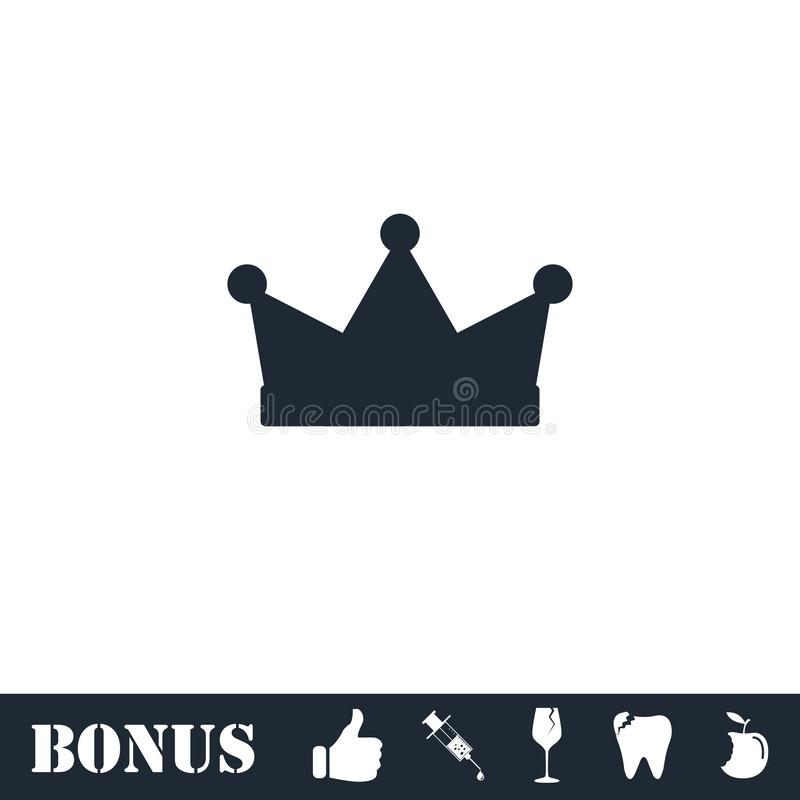 Crown icon flat stock illustration