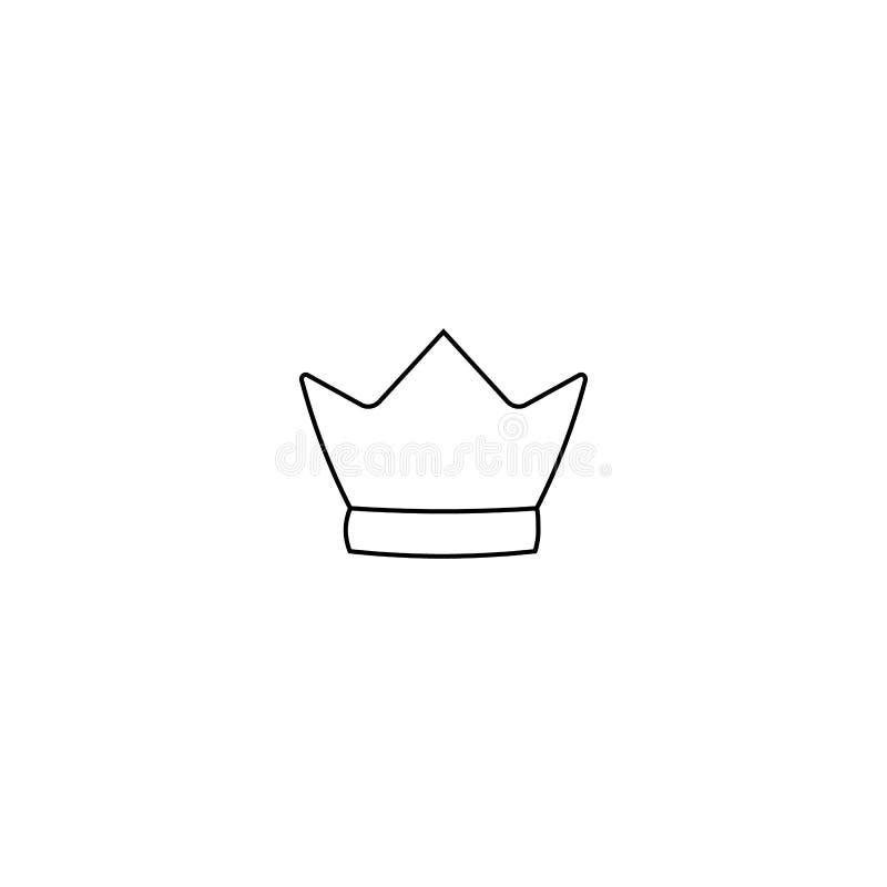 Crown icon isolated on white background. Line style. Vector illustration. Logo, symbol, emblem stock illustration
