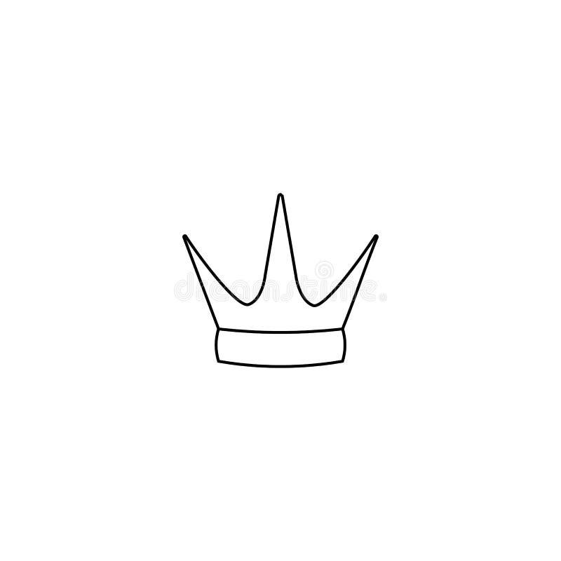 Crown icon isolated on white background. Line style. Vector illustration. Logo, symbol, emblem vector illustration