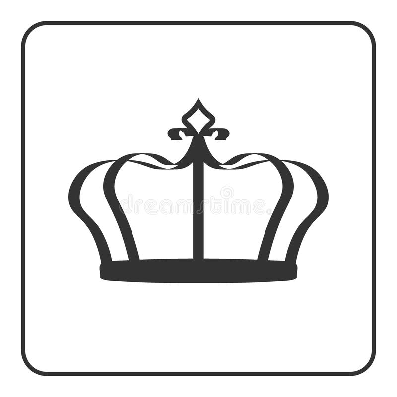 Crown icon isolated on white background. Crown icon - symbol of royal power and authority. Emperor sign. Design element for medals, awards, coat of arms or vector illustration