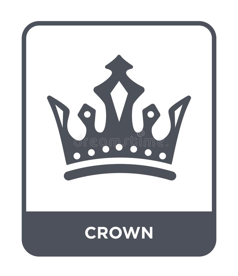 crown icon in trendy design style. crown icon isolated on white background. crown vector icon simple and modern flat symbol for stock illustration