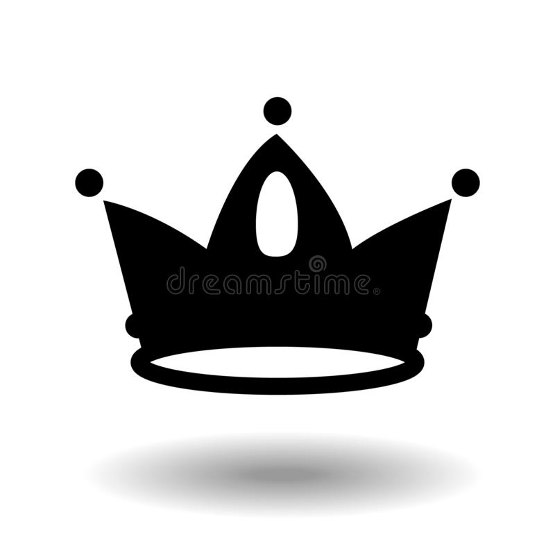 Crown Icon in trendy flat style black isolated on white background. Crown symbol for your web site design, logo, app, UI vector illustration