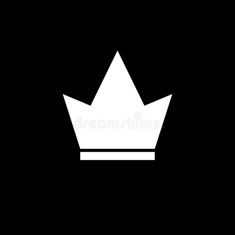 Crown Icon in trendy flat style isolated on white background. Crown symbol for your web site design, logo, app, UI. stock illustration