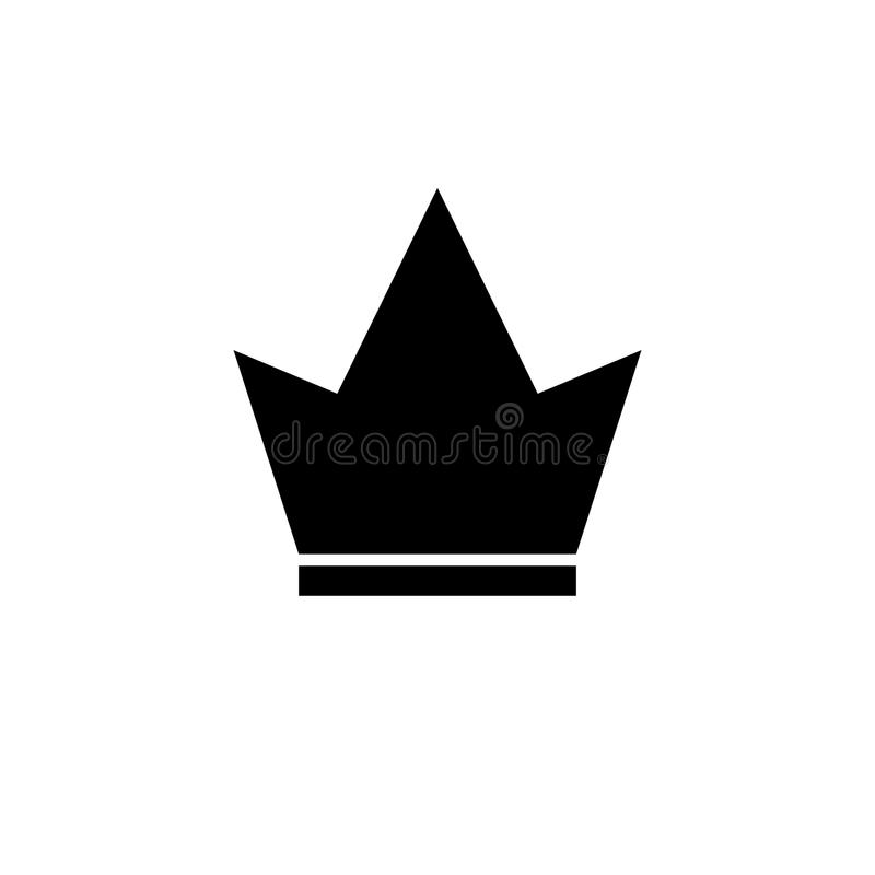 Crown Icon in trendy flat style isolated on white background. Crown symbol for your web site design, logo, app, UI. royalty free illustration