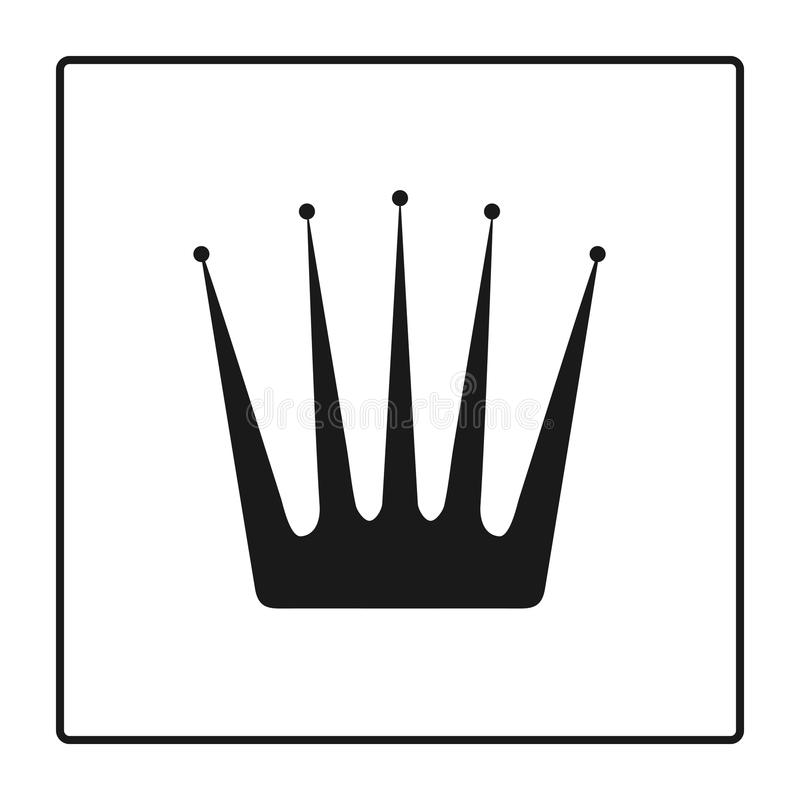 Crown Icon in trendy flat style isolated on white background. Luxury Logo and Crown Symbol for your web site design, logo, app, UI royalty free illustration