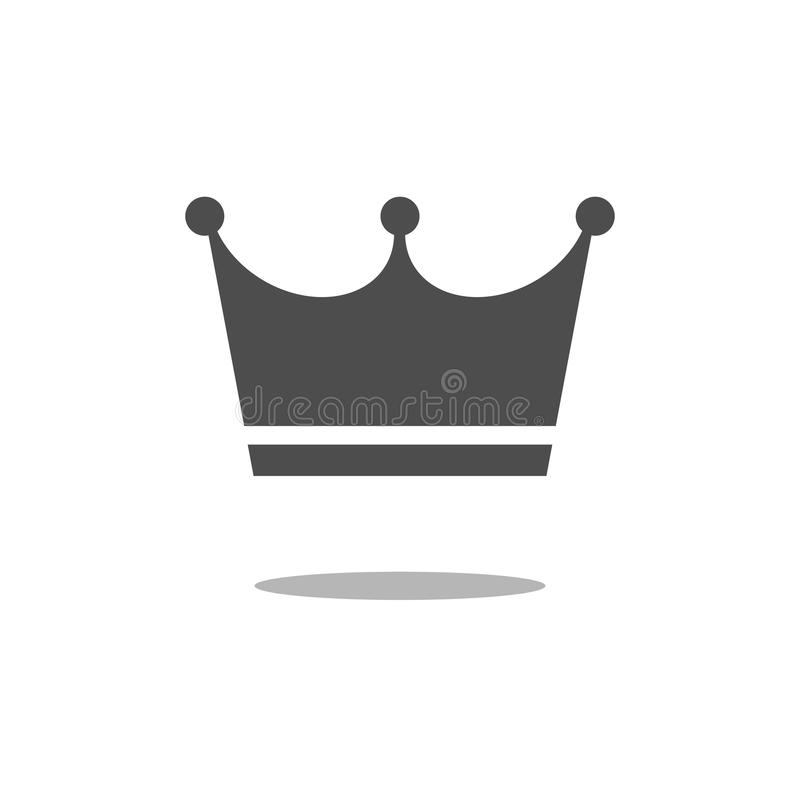 Crown Icon in trendy flat style isolated on white background. Crown symbol for your web site design, logo, app, UI. Vector illustr stock illustration