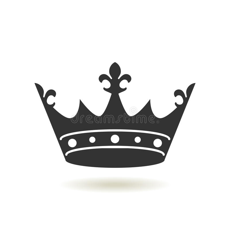 crown icon in trendy flat stylemonarchy authority and