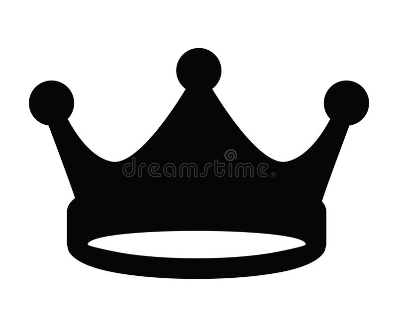 Crown icon royalty free illustration