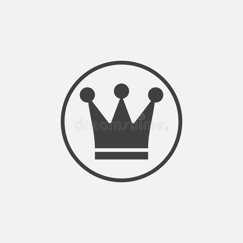 Crown icon vector, solid logo illustration. Pictogram isolated on white vector illustration