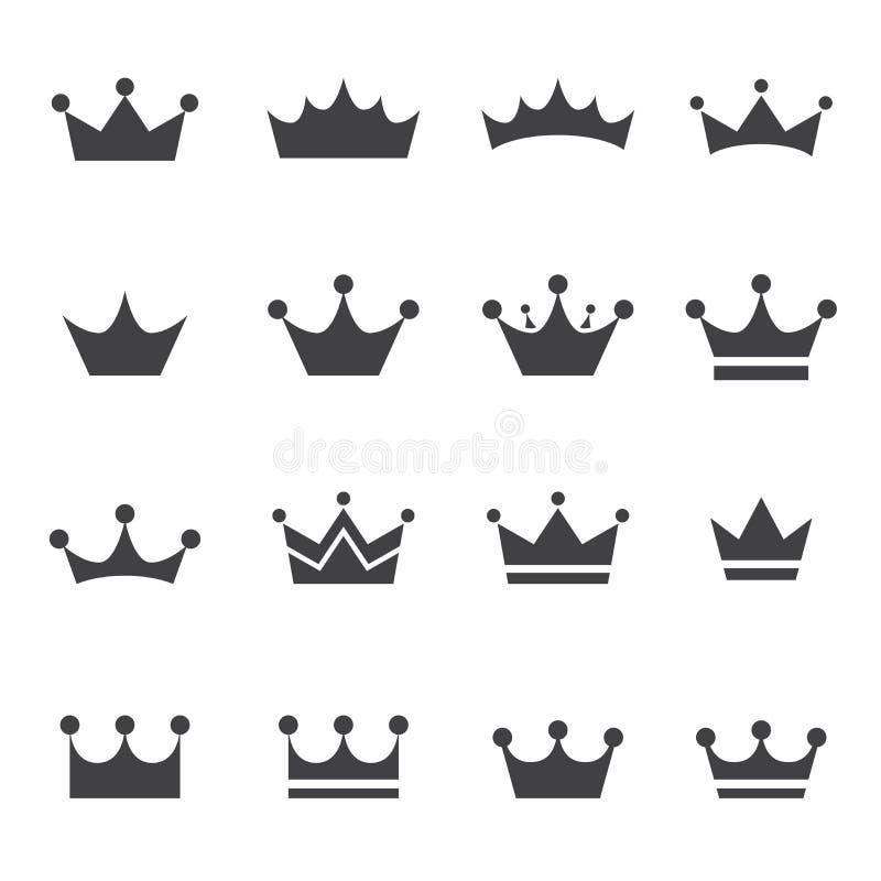 Crown icon stock illustration