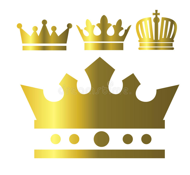 Download Crown icons stock vector. Image of heraldic, knight, kingdom - 28918565