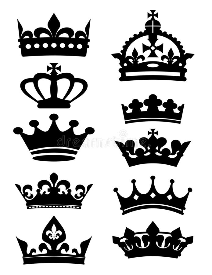Free Crown King Icons Vector Collection Fleur De Lis Stock Photography - 166630072
