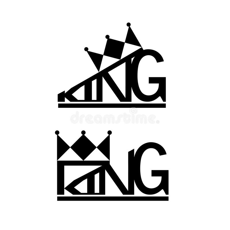 crown and king logo design typography stock vector illustration of rh dreamstime com king crown logo hd king crown logo png