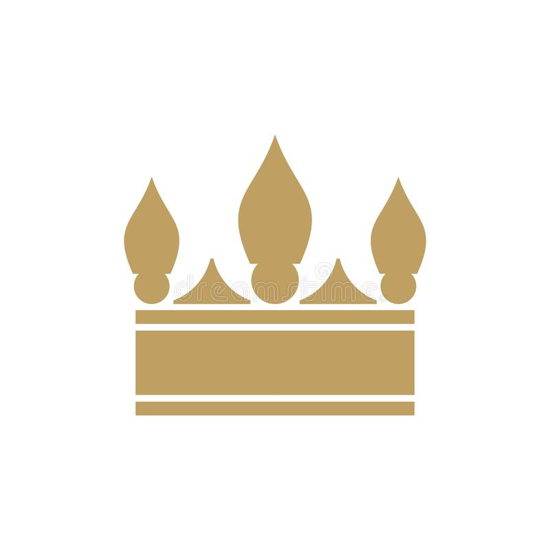 Crown Logo Design Vector shape and color eazy use stock images