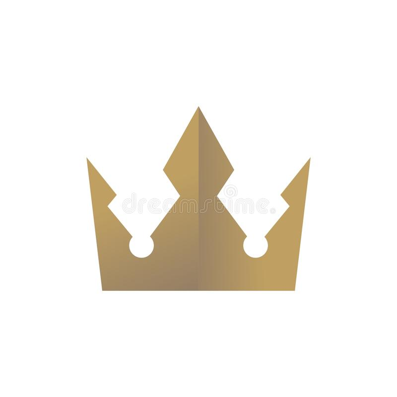 Crown Logo Design Vector shape and color eazy use stock image
