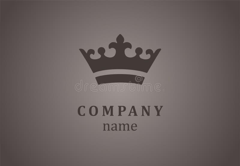 Crown logo for elite company. stock photo