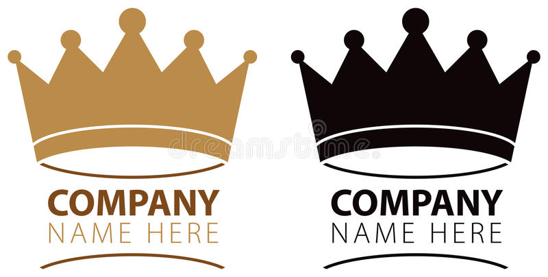 Crown Logo. A crown logo icon in colour and black and white