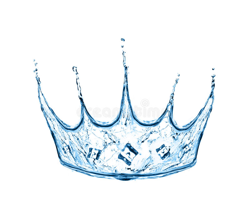 Crown made from water splash royalty free stock image