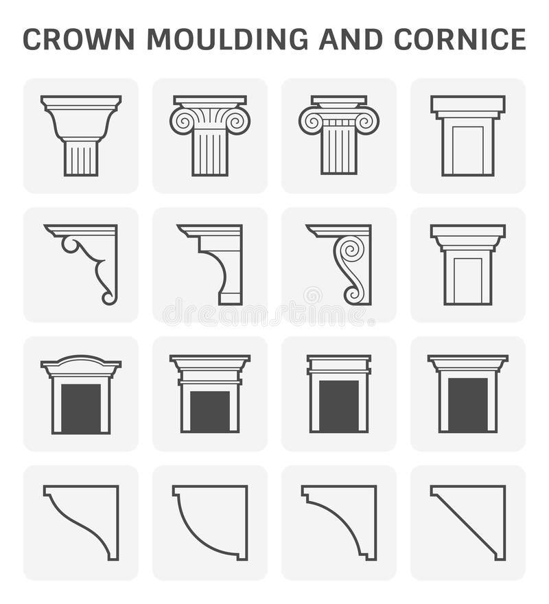 Crown Moulding Cornice Stock Vector Illustration Of Exterior 142292393
