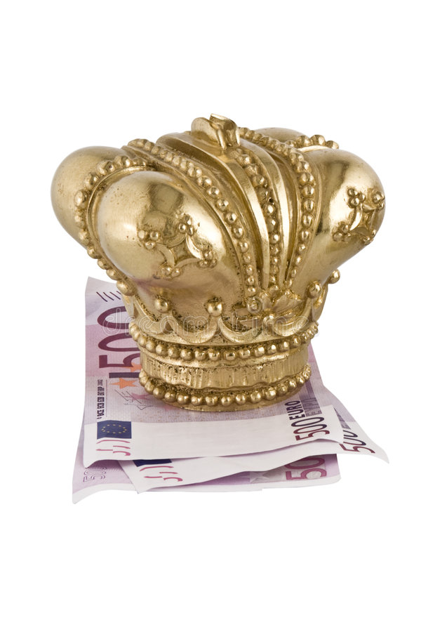 Free Crown On Euro Stock Image - 8258901