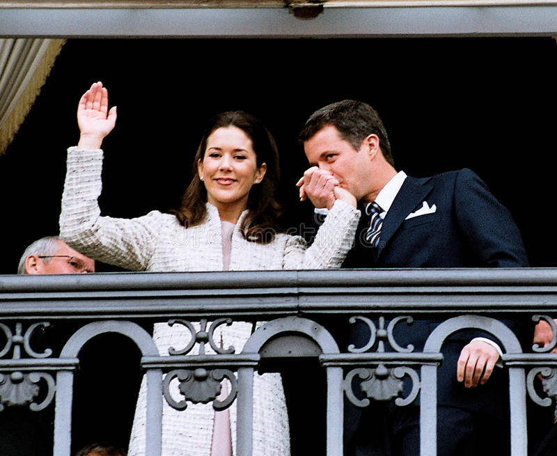 CROWN PRINCESS MARY & CROWN PRINCE FREDERIK stock images