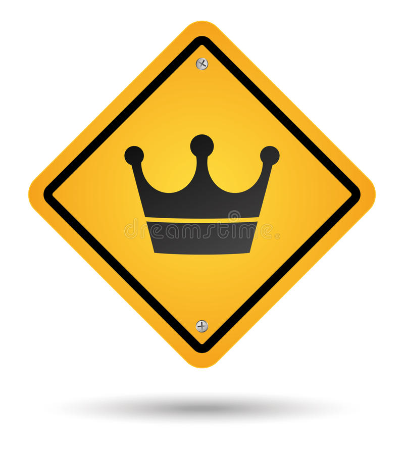 Crown road sign stock illustration
