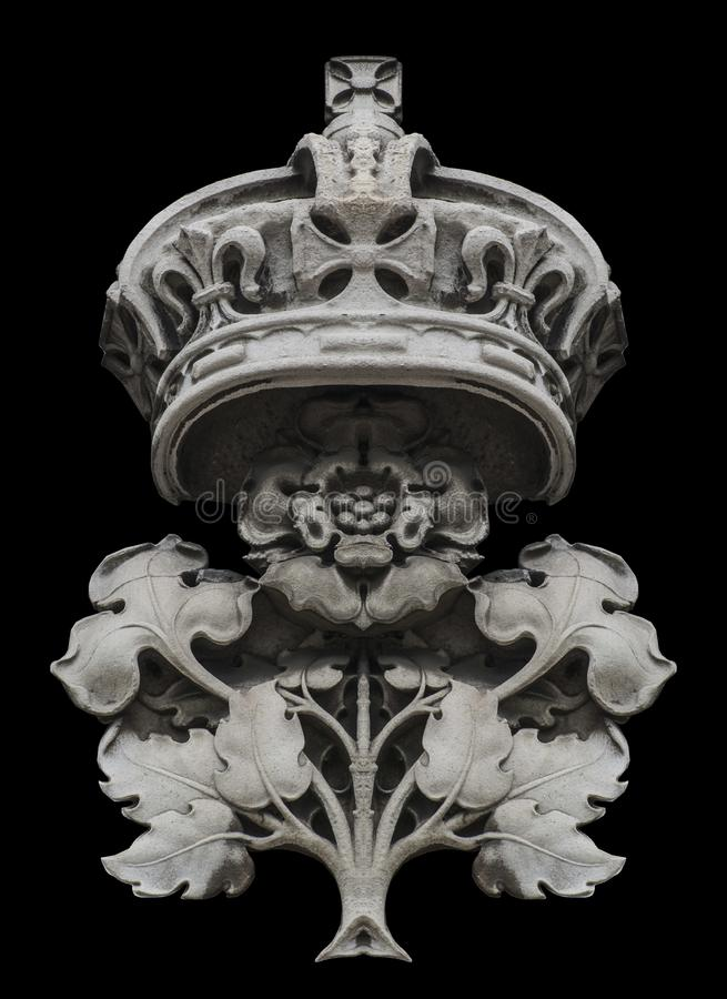 Crown and Rose Deco royalty free stock photography