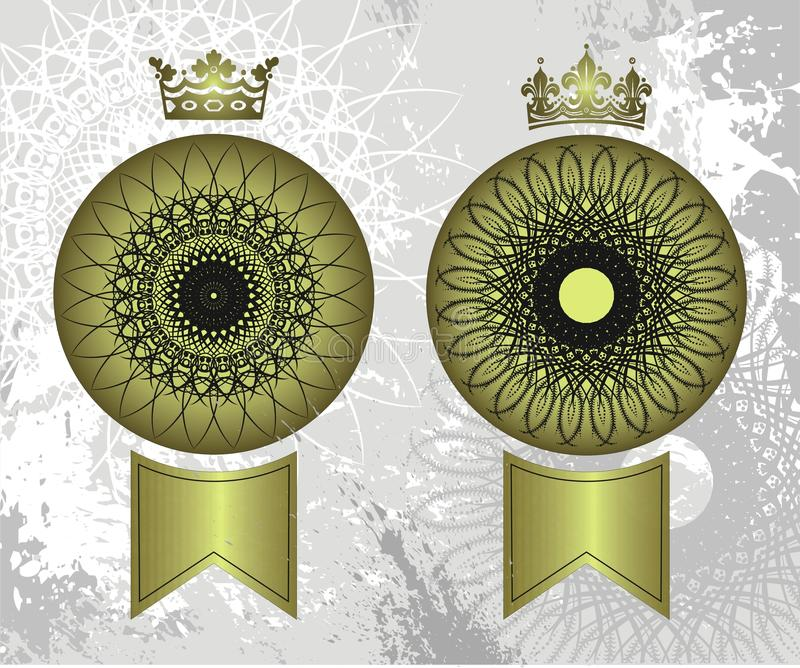 Download Crown seals stock vector. Image of pattern, royalty, scroll - 11605750