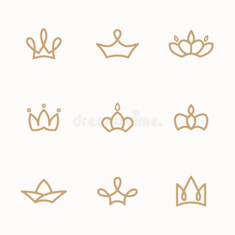 Crown set royalty free illustration