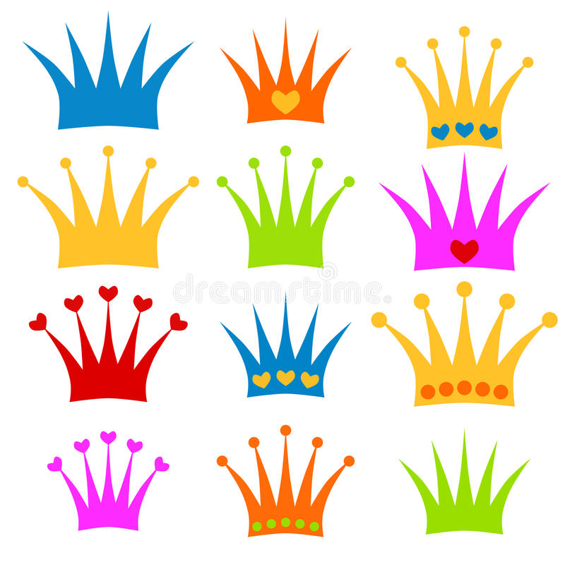 crown set prince or princess clipart stock illustration rh dreamstime com clip art crowns free free clipart crowns kings