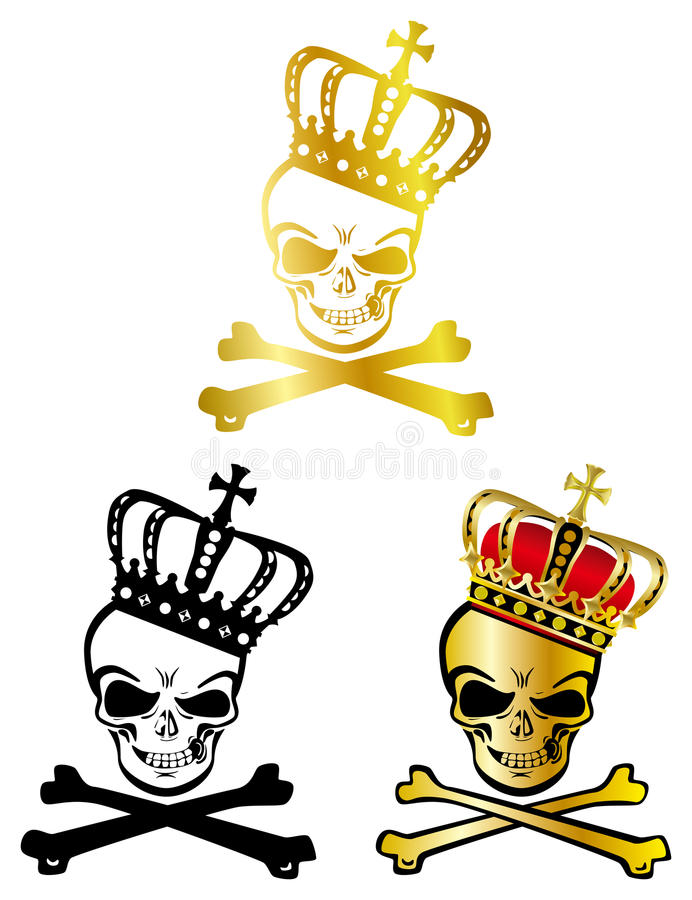 Crown skull stock illustration